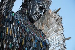 Knife Angel sculptured by Alfie Bradley