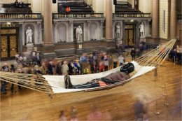 Little Boy Giant sleeps in St. Georges Hall