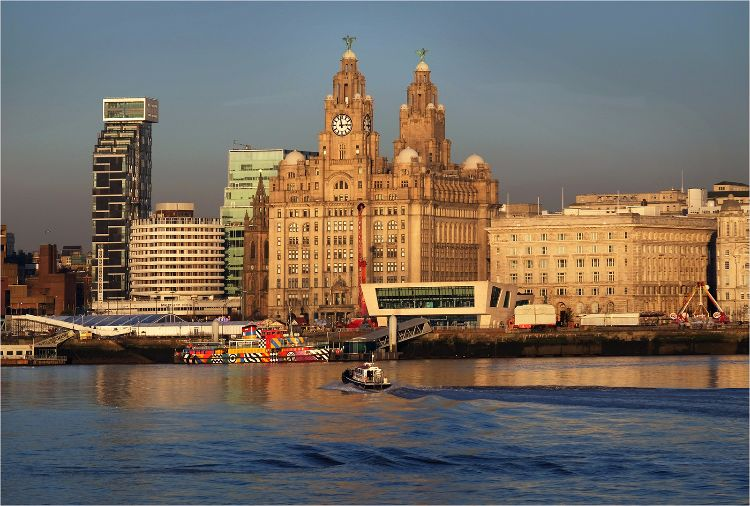 Liver Building view from The Mersey