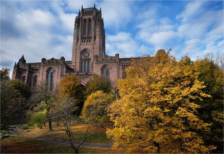 Liverpool Cathedral Autumn scene