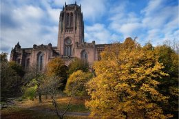 Liverpool Cathedral Autumn scene