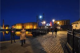 Liverpool Docks at Night