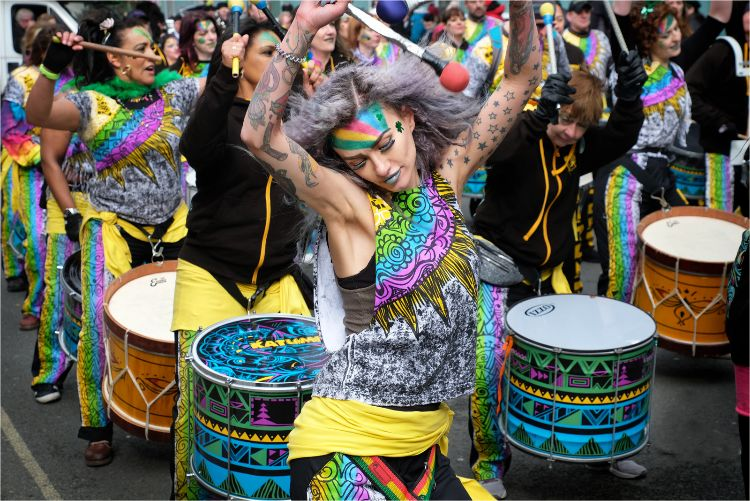 Liverpool Samba vibe on St Patricks Day