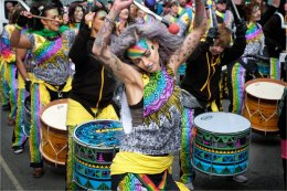 Liverpool Samba vibe on St Patricks Day