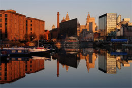 Liverpool winter light reflection