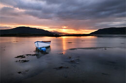 Lonely boat in Carlingford lough