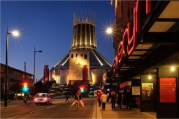 Metropolitan Cathedral night colours