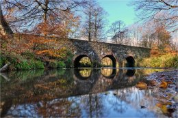 Minnowburn Bridge Belfast in Autumn