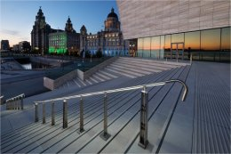 Museum of Liverpool steps at sundown