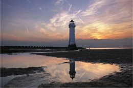 New Brighton Lighthouse at sundown