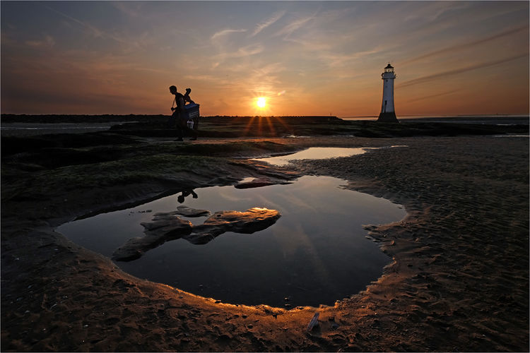 New Brighton at sundown
