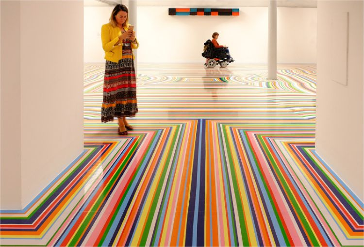Op Art Floor at Tate Liverpool