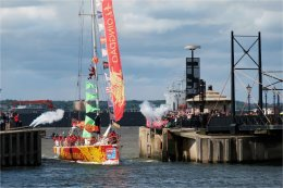 Qingdao Round the World Clipper enters Canning Dock Liverpool