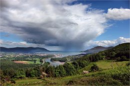 Rain shower over Carlingford Lough
