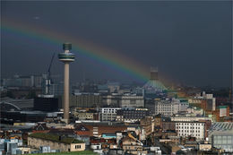 Rainbow over Liverpool