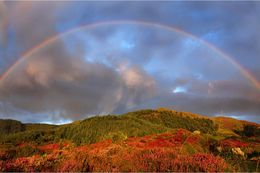 Rainbow over Slieve Martin at Cloughmore Co. Down