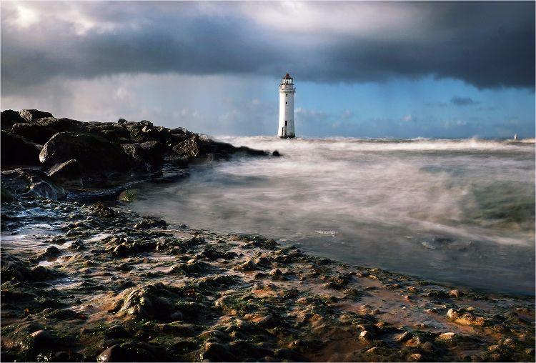 Rough seas at Perch Rock