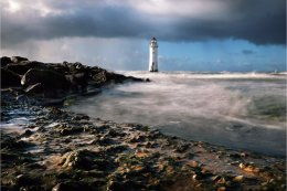 Rough seas at Perch Rock