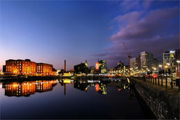 Salthouse Dock Night Reflection