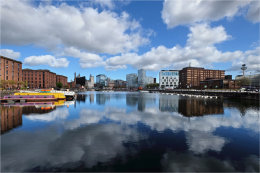 Salthouse Dock Reflections Liverpool