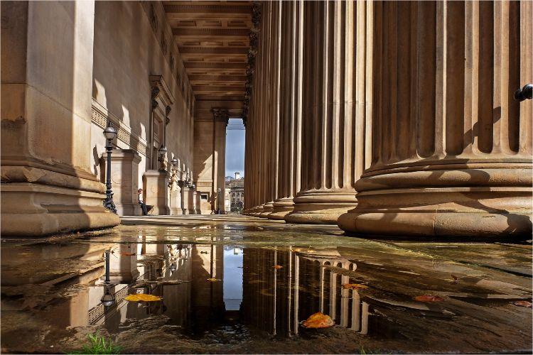 St. Georges Hall pillars Liverpool