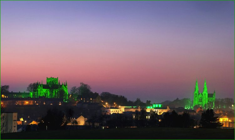 St. Patrick's Cathedrals Armagh on St Patrick's Day
