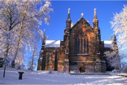 St Patrick's CoI Cathedral in snow