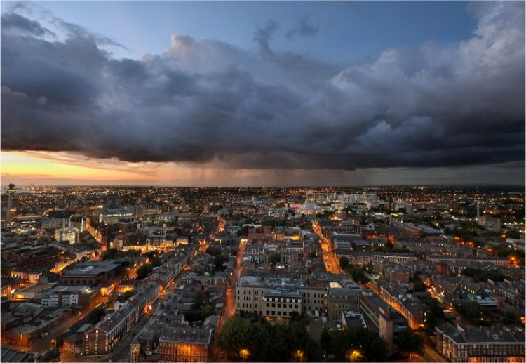 Storm clouds over Liverpool