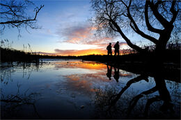 Sun setting over Loughgall