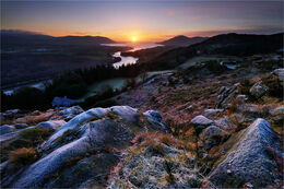 Sunrise from Flagstaff viewpoint Co. Armagh