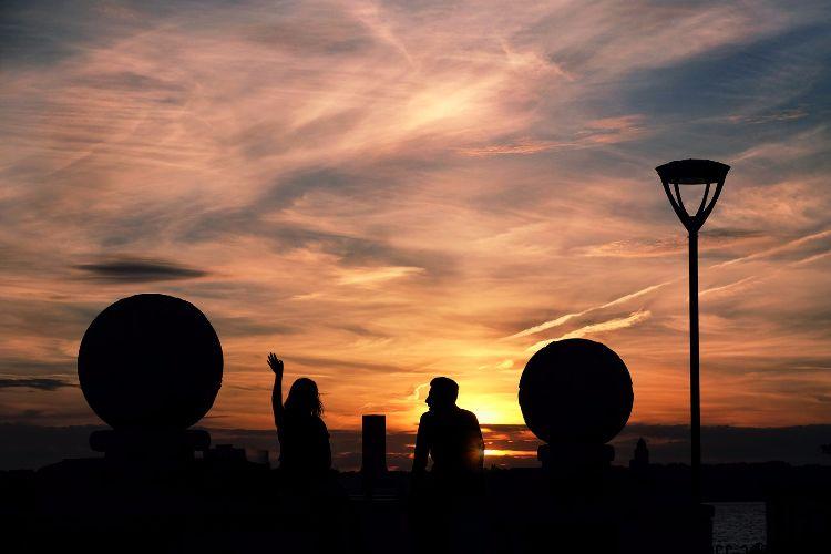 Sunset at Pier Head Liverpool