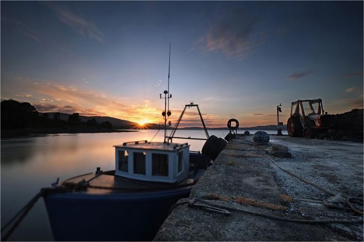 Sunset over Carlingford Lough at Greers Quay