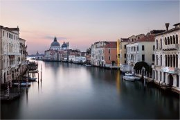The Grand Canal Venice at dawn