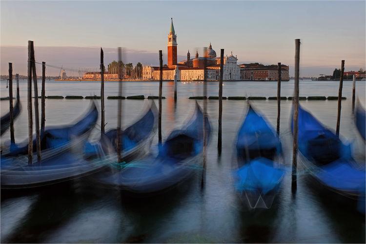 Venetian Gondolas at Dawn