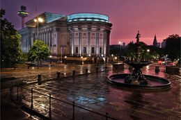 Wet night at St. George's Hall