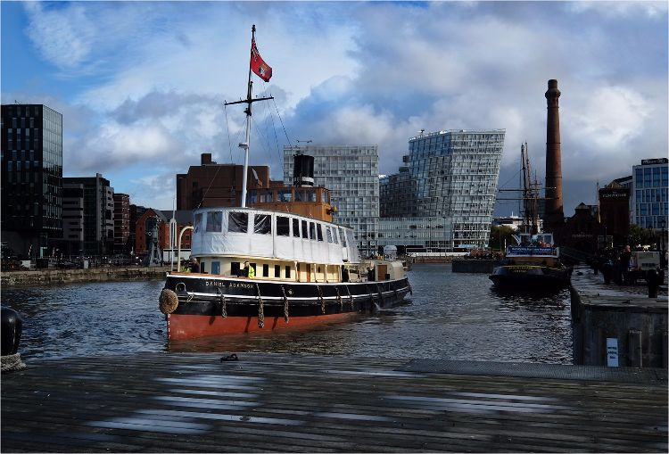 ' Danny ' leaving Canning Dock Liverpool