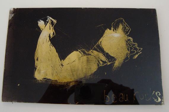 Beau Rocks painting on glass