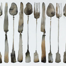 Line of Cutlery
