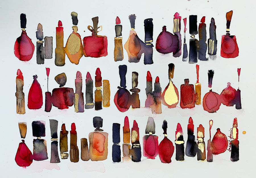 Red Lipsticks and Nail Polishes