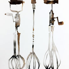 Three Vintage Whisks