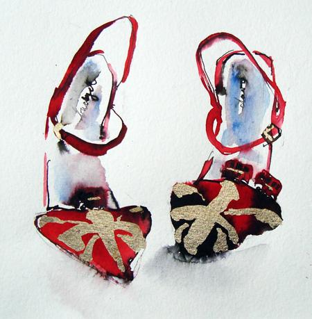 Gold Union Jack Shoes