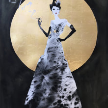 Margot and the moon - SOLD