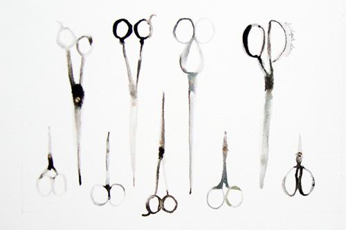 Nine Pairs of Scissors