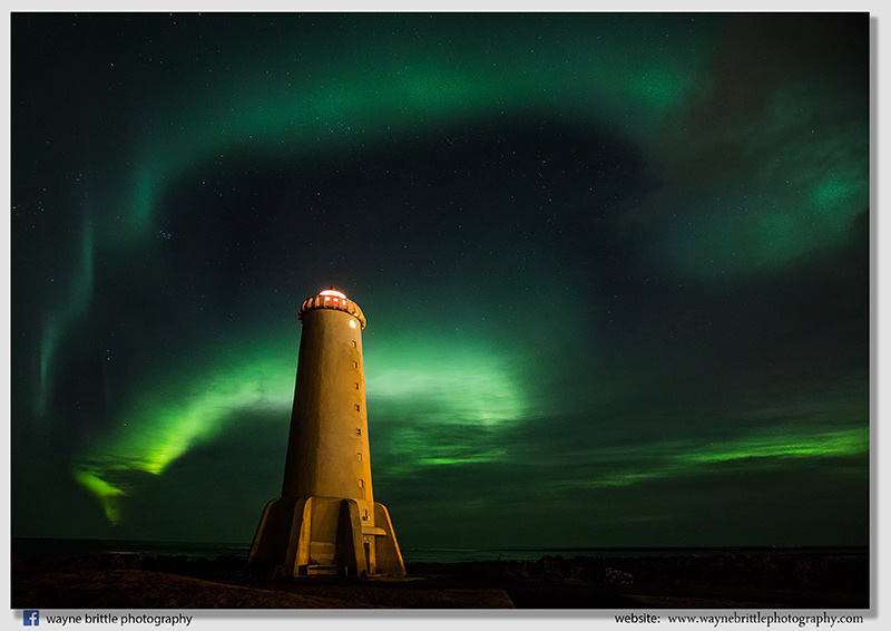 Lighthouse Aurora - Western Iceland
