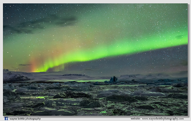 Jokulsarlon Ice Lagoon Aurora