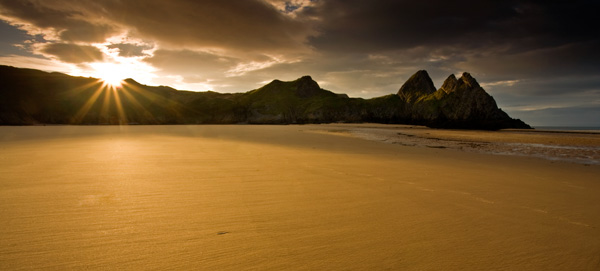 Three Cliffs Bay Sunrise - SWS018