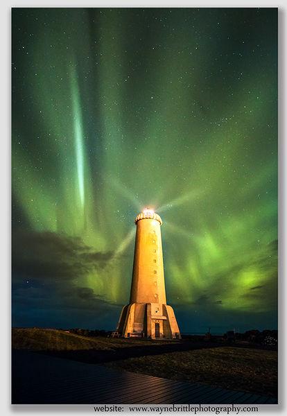 Arkranes Lighthouse & The Aurora - 42784