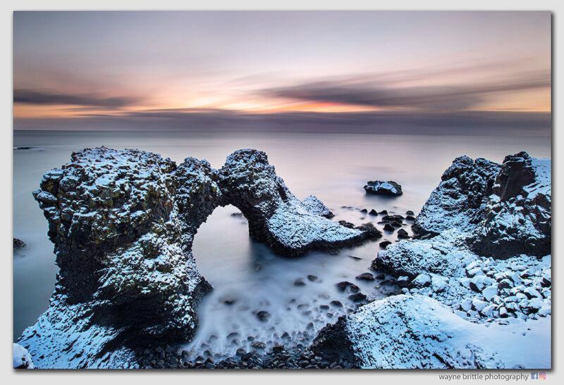 Arnastapi Sea Arch  at Dawn - West-Iceland  -  W5D41959
