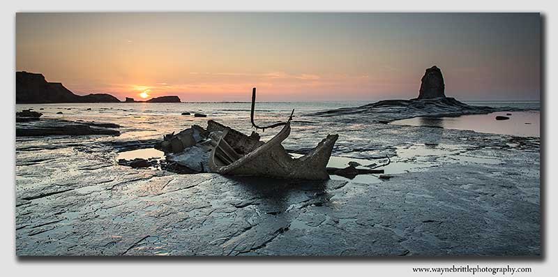 As the Sun Sets - Saltwick Bay - W5D31144