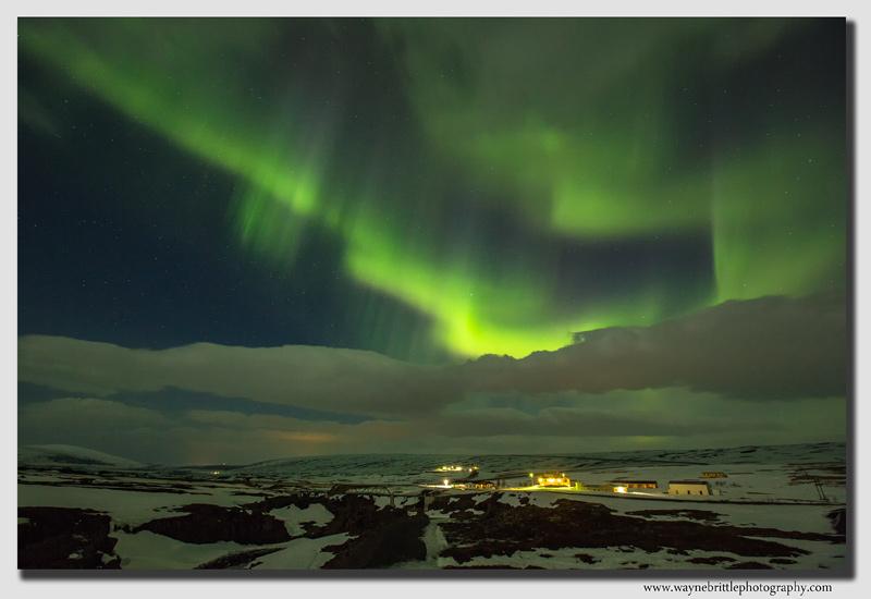 Aurora near Godafoss
